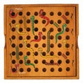 Wood Travel-size Snakes and Ladders Game (Thailand)