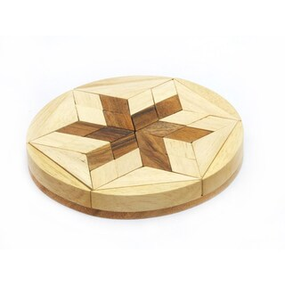 Wood Travel-size Star Challenge Puzzle Game (Thailand)