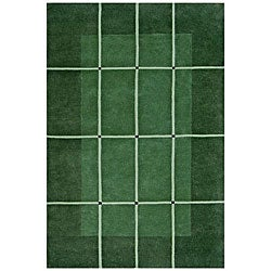 Hand-tufted Green Wool Rug (8' x 11')