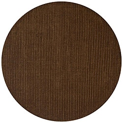 Hand-tufted Pulse Brown Wool Rug (6' x 6')