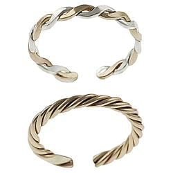 Goldfill Two-Tone Two-Piece Sterling-Silver Toe Ring Set