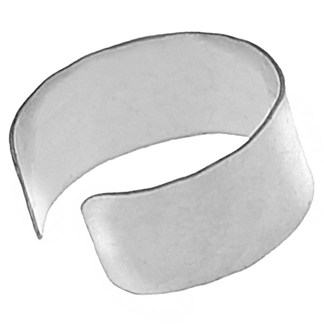 Journee Collection Sterling Silver Hammered Ear Cuff