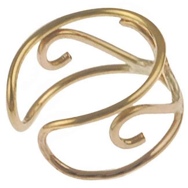 Goldfill 'S' Shape Ear Cuff