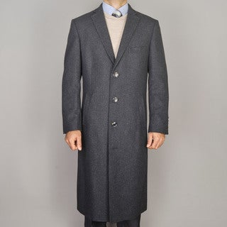 Men's Charcoal Wool Overcoat