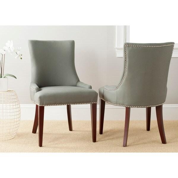 Safavieh En Vogue Dining Becca Grey Linen Side Chair
