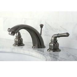 Vintage Nickel Widespread Bathroom Faucet