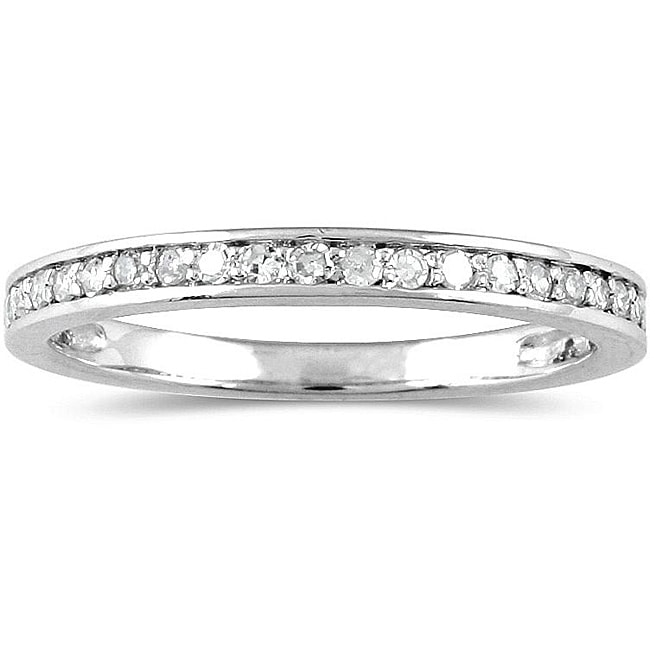 Marquee Jewels 10k White Gold 1/5ct TDW Diamond Ring (H-I, I1-I2)