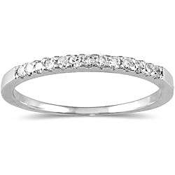 10k White Gold 1/8ct TDW Diamond Ring (H-I, I1-I2)