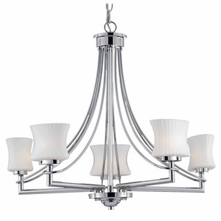 Astro 5-light Chrome Chandelier