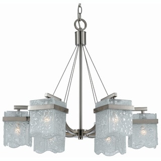 Arctic Ice 6-light Satin Nickel Chandelier