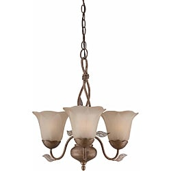 Petal 3-light Burnished Gold Chandelier