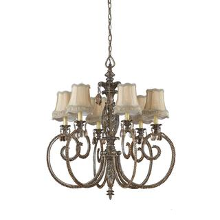 Mardis Gras 6-light Antique Pewter Chandelier