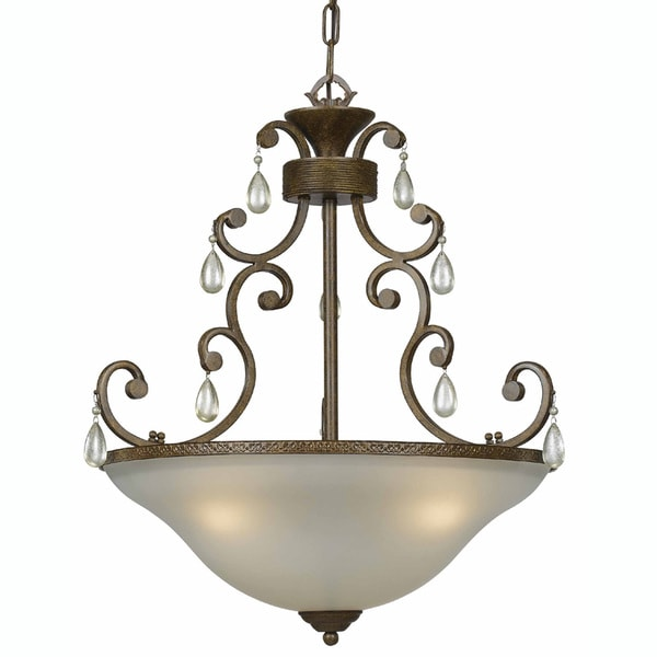 Indoor 3-light Antique Bronze Pendant Light