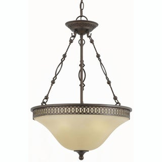 York Energy Star 3-light English Bronze Pendant Light