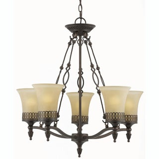 York Energy Star 5-light English Bronze Chandelier