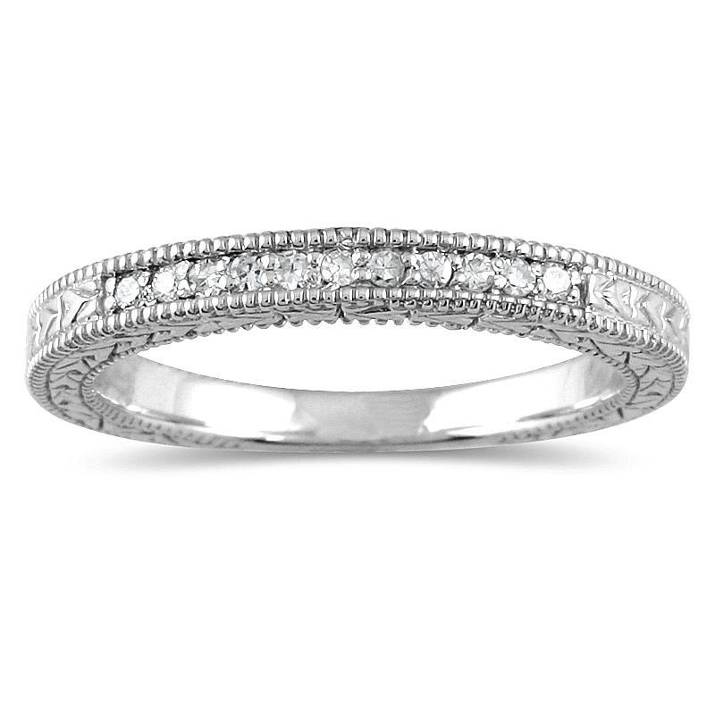 Marquee Jewels 10k Gold 1/10ct TDW Diamond Ring (H-I, I1-I2)