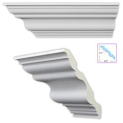 Heritage 8.5-inch Crown Molding (8 pack)