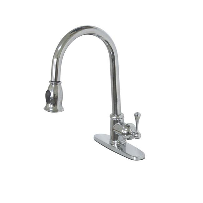 Vintage Chrome Pull-down Kitchen Faucet