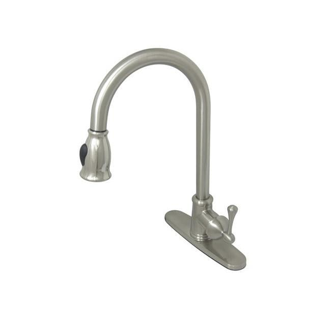 Vintage Satin Nickel Pull-down Kitchen Faucet