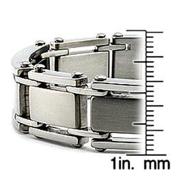 Stainless Steel Men's Brushed and Polished Bracelet