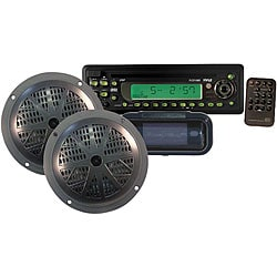 Pyle Waterproof Marine CD/MP3 Player Receiver/ Speaker/ Radio Cover (Refurbished)