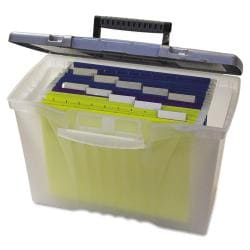 Storex Portable File with Organizer Lid