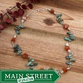 Silverplated 'Cave Creek' Turquoise and Carnelian Necklace
