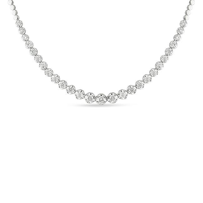 Miadora 18k White Gold 9 1/10ct TDW Diamond Necklace (G-H, SI1-SI2)