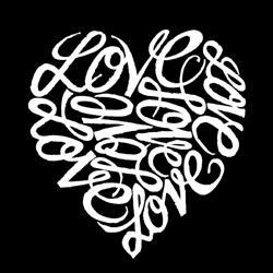 Los Angeles Pop Art Cursive Heart Kitchen Apron
