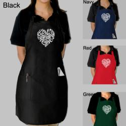 Los Angeles Pop Art Cursive Heart Kitchen Apron