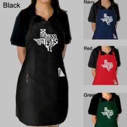 Los Angeles Pop Art Don't Mess With Texas Kitchen Apron
