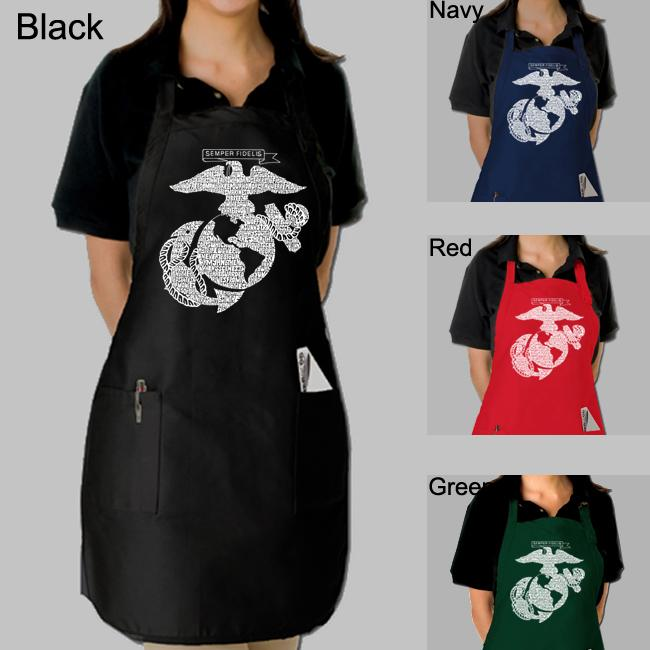 Los Angeles Pop Art Marine Kitchen Apron