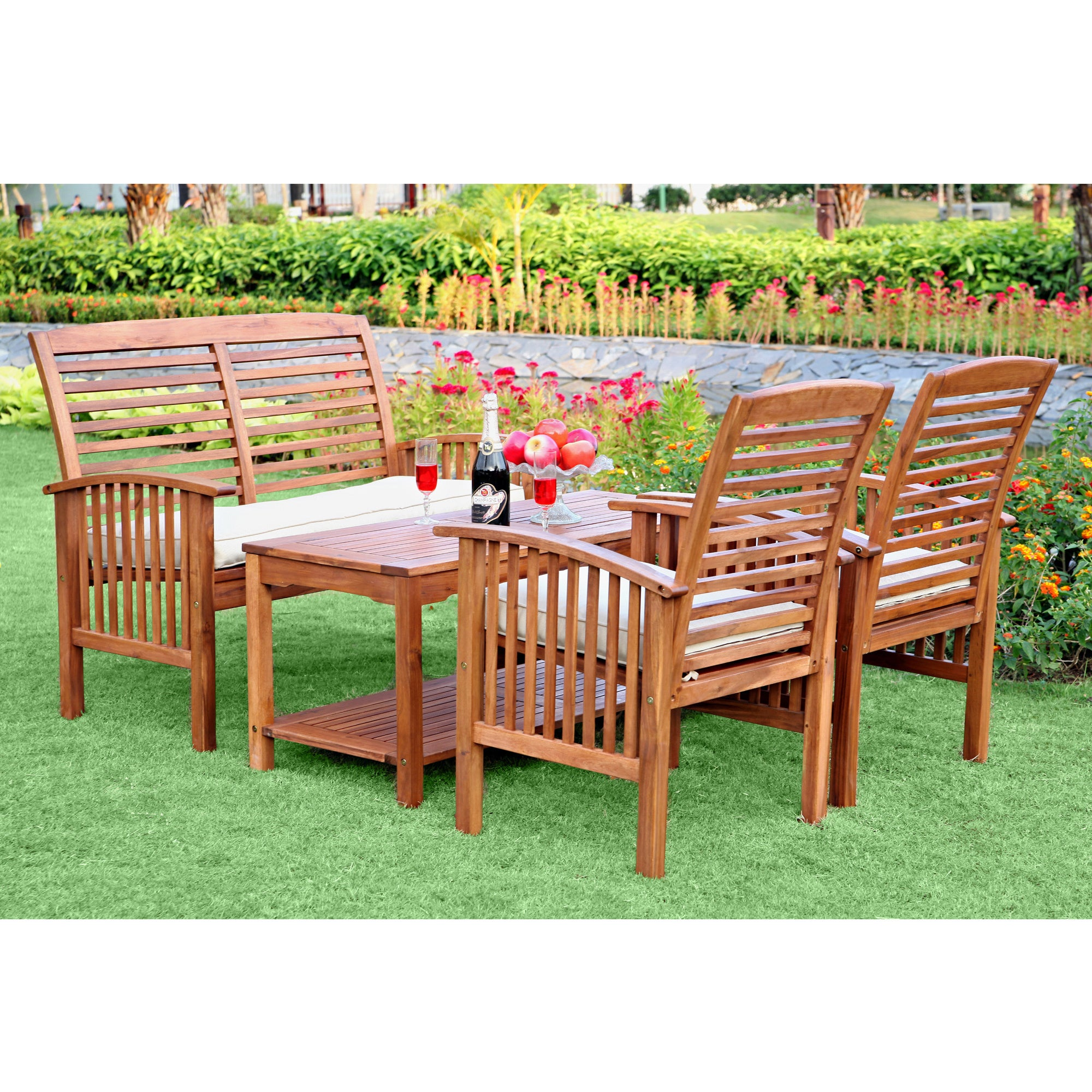 outdoor patio set garden furniture chair gazebo wood dining table set