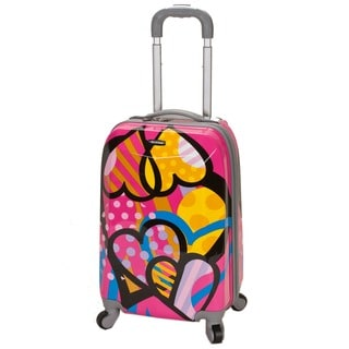 Rockland Vision 20-inch Hardside Love Pattern Upright Carry-on