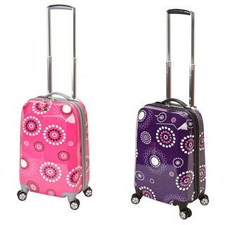 Rockland Vision 20-inch Pearl Cirlces Carry On Hardside Carry-on Upright