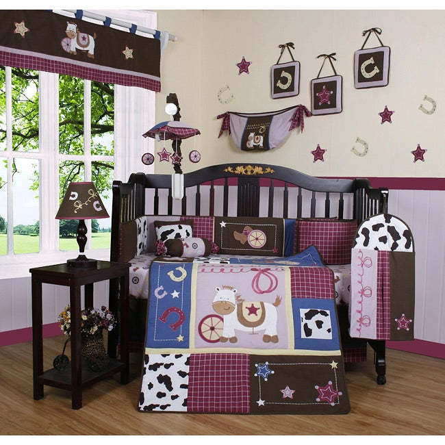 Western Cowgirl Horse 13-piece Crib Bedding Set