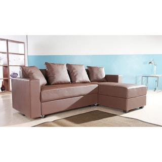 San Jose Coffee Convertible Sectional Storage Sofa Bed