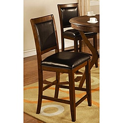 Sierra Brown Walnut Counter Stools (Set of 2)