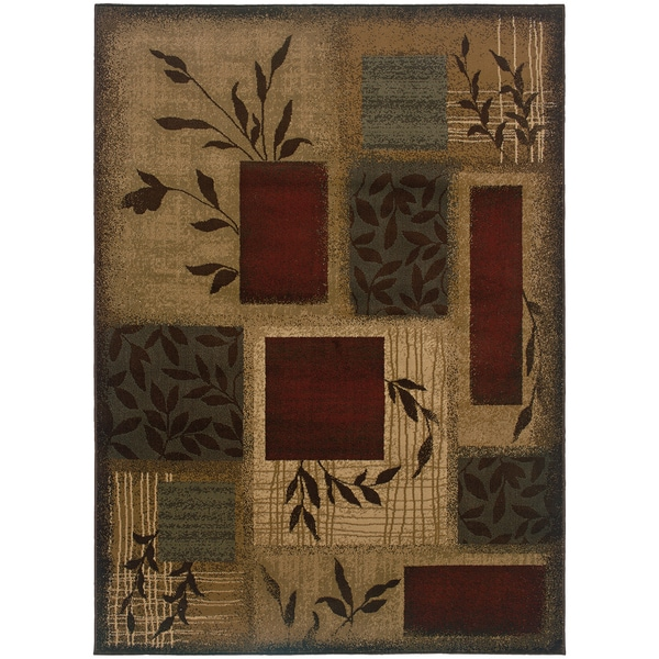 Indoor Green Abstract Rug (2'6 x 7'9)