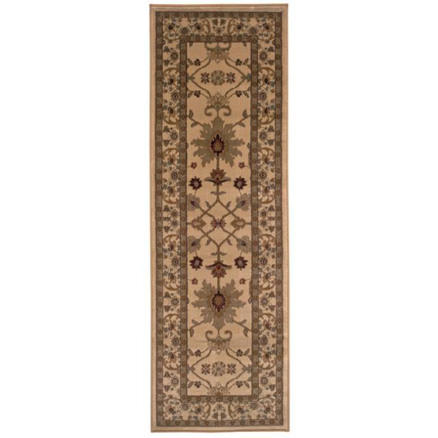 Indoor Beige Oriental Rug (2'6 x 7'9)