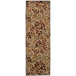 Indoor Beige Abstract Rug (2'6 x 7'9)
