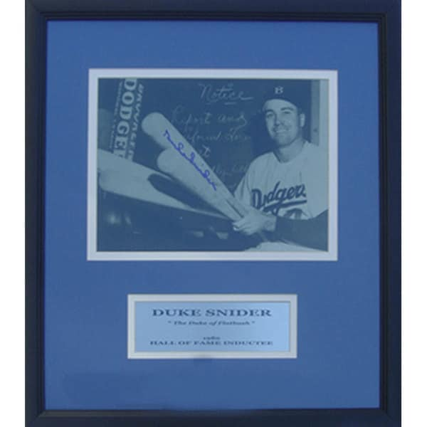 Brooklyn Dodgers Duke Snider Autographed Deluxe Frame Photograph