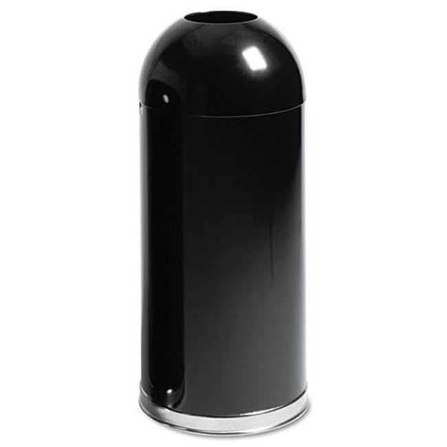 Rubbermaid Black Round Receptacle