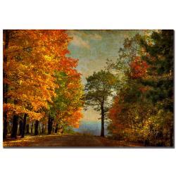 Lois Bryan 'Autumn on the Mountain'' Canvas Art