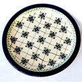 Ceramic Stoneware Checkered 10.75-inch Dinner Plate (Poland)