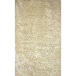 Handmade White Shag Wool Rug (8' x 10')