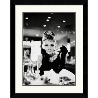 Audrey Hepburn - Breakfast at Tiffany's' Framed Art Print