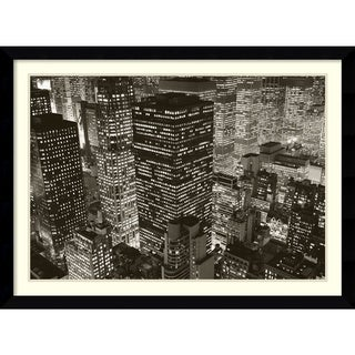 Michael Kenna 'Mary Poppins over Midtown, NY 2006' Framed Art Print