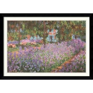 Claude Monet 'The Artist's Garden at Giverny, 1900' Framed Art Print