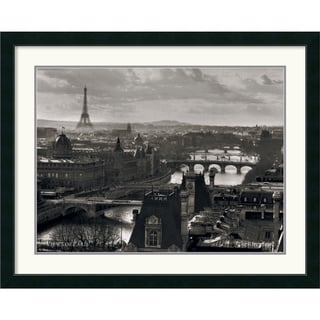 'Views of Paris The River Seine' Framed Art Print